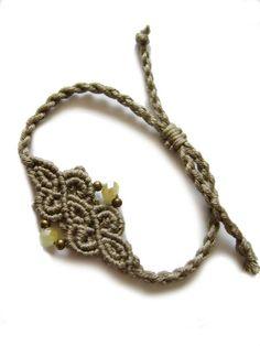 * Flechtarmbändchen silberoliv * von crochet.jewels auf DaWanda.com