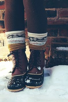 Snow Boots   Scrunched Adorably Wintery Socks = Why, yes, of course.