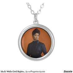 Ida B. Wells Civil Rights Suffrage Leader Activist Silver Plated Necklace Black Felt, Black History Month, Civil Rights, Wells, Civilization, Silver Plate, Plating, Black History Month People, Silverware Tray