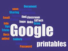 Teaching with Technology: EdTech Printables Educational Websites, Educational Technology, Computer Lab, Chromebook, News Blog, Learning Activities, Classroom, Printables, Teaching