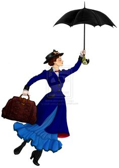 Mary Poppins done no backdrop by ~justin-mctwisp on deviantART