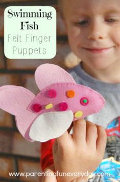 How to make felt fish puppets