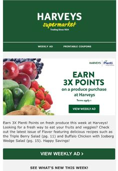Hey hey just received an email that Harvey's Supermarket is offering 3x Plenti points when you purchase fresh fruit. A way to help you get healthy. www.youcanbeslim2.com #eatclean #cleaneating #weightloss #health #food #foodie #harveys #plenti #plentirewards #instagood #incentive #instagram #lawofattraction #follow4follow #weightlossjourney #loseweight Healthy Detox, Get Healthy, Eat Fruit, Fresh Fruit, Loyalty Marketing, Whole Food Recipes, Cooking Recipes, Skinny Fiber, Lose Weight