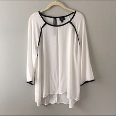 Blouse Black and white blouse. Never worn. Fits small. Tops Blouses
