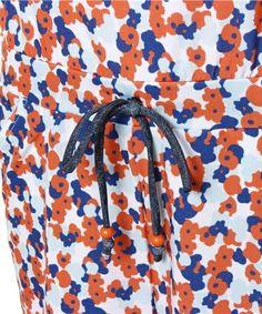 【キッドブルー -プチフラワーRW -オールインワン 水着 -ko26391ai7 -kidblue】明るい配色で元気なイメージのパネルプリントのウェア