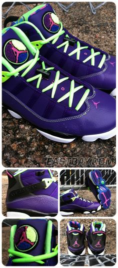 """#ReleaseReport: Jordan 6 Rings """"Bel-Air"""". Pin now, then be sure to cop your pair when they release on Oct. 19th. #Eastbay"""