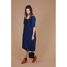 #esby Beach House Midi Dress, Indigo – TENOVERSIX