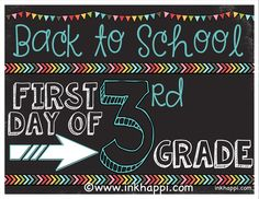 First Day of School Photo Prop Signs... Free Printables! - inkhappi
