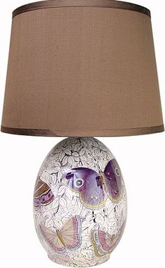 Purple Butterflies lamp by John Derian