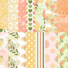 Flower digital paper Floral printable by DigitalDesignsAndArt