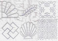 Patrón bordado formas