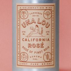 Vintage Graphic Design Una Lou packaging and branding - Vintage Packaging, Wine Packaging, Pretty Packaging, Brand Packaging, Design Packaging, Coffee Packaging, Lettering, Typography Design, Logo Design