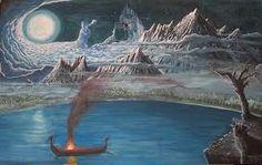 MIDGARD  A Terra do Meio.  É o segundo nível do universo, segundo os povos nórdicos. Os três níveis são: Asgard, o reino dos deuses; Midgard, o reino dos homens; e Niflheim, o reino dos mortos.