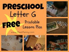 A GREAT letter G study for preschool or kindergarten - FREE printable lesson plan