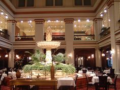 WALNUT ROOM AT MARSHALL FIELDS, Chicago, IL  on State Street (now Macy's)