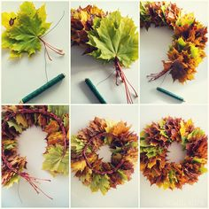 "Hemma hos oss: Min krans, Hemma hos oss: Min krans,NaturdekoDIY Macramé Krans, Super Mooi Decoratie-Item voor Ieder InterieurMit dem ""Mrs Greenery Kreativ-Set Greenery Kranz"" k. Diy Spring Wreath, Fall Wreaths, Diy Wreath, Wreath Crafts, Christmas Decorations For The Home, Thanksgiving Decorations, Autumn Crafts, Nature Crafts, Diy And Crafts"