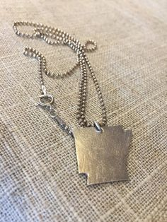 $50- Handmade Fine Silver Arkansas Charm necklaces on etsy by White Gardenia Designs