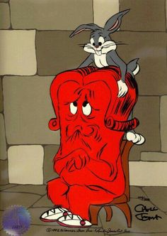 Gossamer, the Red Monster and Bugs Bunny  (Looney Toons)