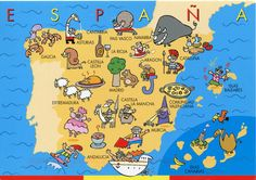 ¿Te gusta España?, ¿qué sabes de este país?, ¿reconoces alguna de estos dibujos? #spain
