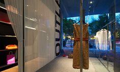 Metal curtains for decor boutiques &shops #design #decor by @KriskaDECOR
