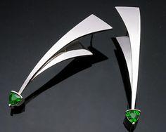 Gemstone Earrings  Silver Earrings  by VerbenaPlaceJewelry on Etsy, $246.00