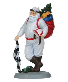 Love this Racing Santa Figurine by Pipka on Santa Figurines, Christmas Pictures, Fireworks, Christmas Holidays, Racing, Believe, Products, Christmas Vacation, Running