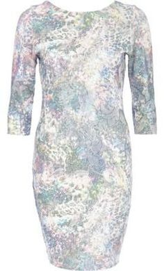 Pin for Later: Be Seen This Festive Season in a Sequinned Party Dress River Island Blue Floral Sequin Embellished Bodycon Dress River Island blue floral sequin embellished bodycon dress (£45)
