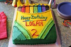 Art Party - Crayola Birthday Party Theme on Stickelberry Crayon Birthday Parties, Birthday Fun, Birthday Party Themes, Birthday Ideas, Birthday Cakes, Theme Parties, Birthday Celebrations, Crayon Cake, Crayon Box