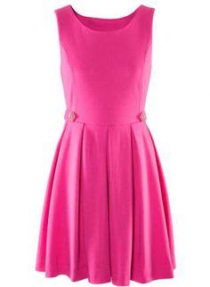 Pink Mini Dress - Bqueen Slim Elegant Dress BY160F