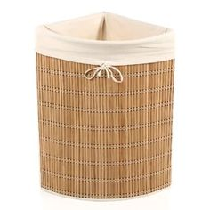 Wicker Laundry Hamper.   Lend a touch of natural appeal to the powder room or parlor with this lovely Wicker Laundry Hamper.