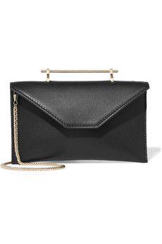 a117d1abe5096 Eddie Borgo - Chet Minaudiere leather-trimmed velvet shoulder bag