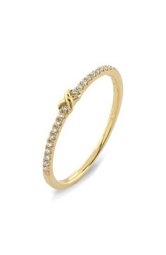 Bony Levy Stackable Knot Pavé Diamond Ring (Nordstrom Exclusive) available at #Nordstrom