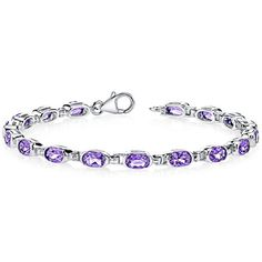 Amethyst Bracelet Sterling Silver 6.75 Carats Oval Shape -- Check out the image by visiting the link.