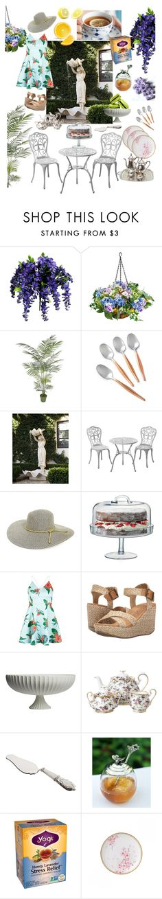 """""""Afternoon tea party"""" by heejin434 ❤ liked on Polyvore featuring interior, interiors, interior design, home, home decor, interior decorating, Improvements, La Cafetière, Fountain and BP."""