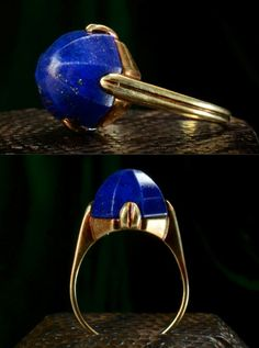beautiful vintage with lapis stone ring