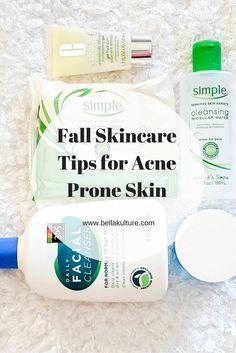 Fall Skincare Tips for Acne Prone Skin Diy Skin Care, Skin Care Tips, Winter Beauty Tips, Acne Help, Acne Prone Skin, Healthy Skin, Cleanser, Sensitive Skin, Health Tips