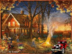 autumn fall animated gif rainy day - Google Search