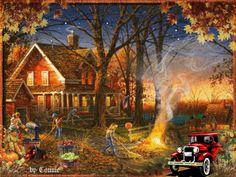 autumn fall animated gif rainy day - Google Search