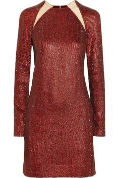 KAUFMANFRANCO|Crystal-embellished silk dress|NET-A-PORTER.COM
