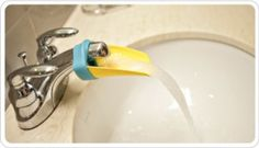 """A must-have for the kids who need to """"do it all by myself"""" ~ super awesome aqueduck faucet extender."""