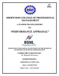 Bsnl Project Report  Report Of Bsnl