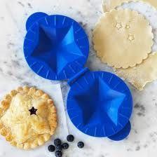 Patriotic as apple pie. petite pie mold.