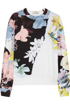 Erdem|Zea floral-print stretch-cotton jersey sweatshirt|NET-A-PORTER.COM