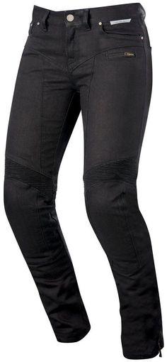 Alpinestars Womens Stella Riley Armored Denim Riding Pants Black