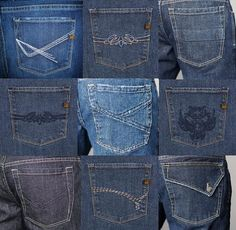 Collections of jeans pockets