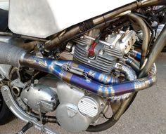 Guy Martin - wall of death bike exhaust
