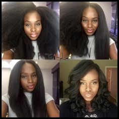 """tai-lo: """"This is probably my favorite crochet braids ever!!! Started very puffy but it blow dries and curl very easily  I'll upload a tutorial on how I blow dried and achieved this beautiful..."""