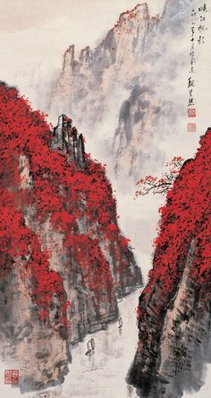 Check out this awesome collection of Traditional Japanese Art wallpapers, with 72 Traditional Japanese Art wallpaper pictures for your desktop,. Chinese Landscape Painting, Fantasy Landscape, Landscape Art, Landscape Paintings, Chinese Painting, Japanese Artwork, Japanese Painting, Japanese Wallpaper Iphone, Scenery Wallpaper