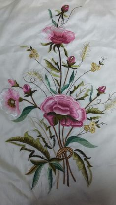 Marvelous Crewel Embroidery Long Short Soft Shading In Colors Ideas. Enchanting Crewel Embroidery Long Short Soft Shading In Colors Ideas. Crewel Embroidery, Hand Embroidery Designs, Floral Embroidery, Cross Stitch Embroidery, Embroidery Patterns, Machine Embroidery, Embroidery Needles, Thread Painting, Fabric Painting