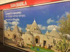 """""""Nella metro di Milano! Siamo dappertutto! #weekendPuglia""""  Chiara Gatto, da Facebook."""